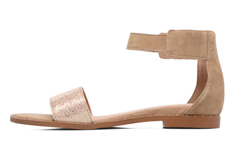 Sandales et nu-pieds Karston Sovia Beige vue face