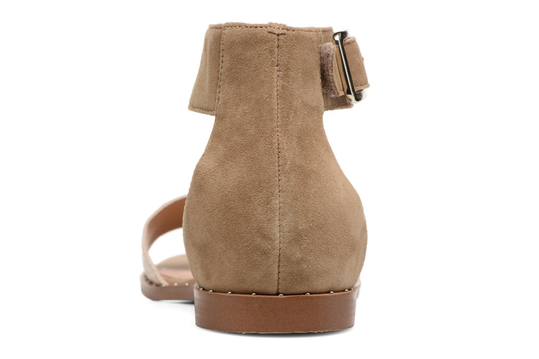 Sandales et nu-pieds Karston Sovia Beige vue droite