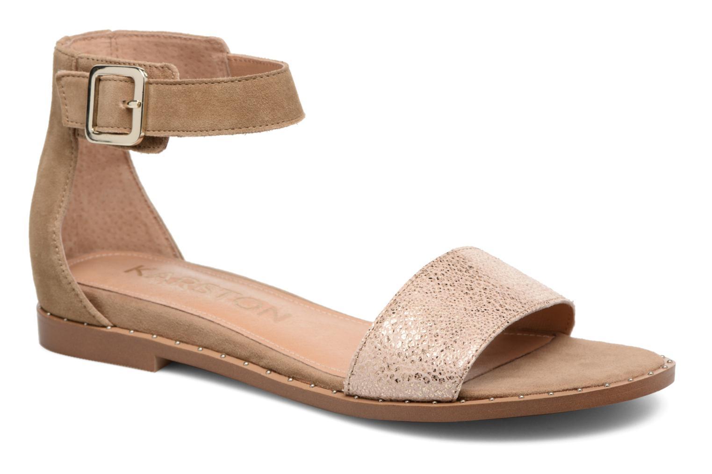 Sandales et nu-pieds Karston Sovia Beige vue détail/paire
