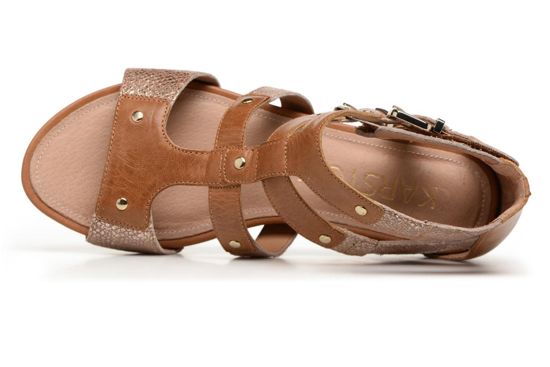 Sandales et nu-pieds Karston Konic Marron vue gauche