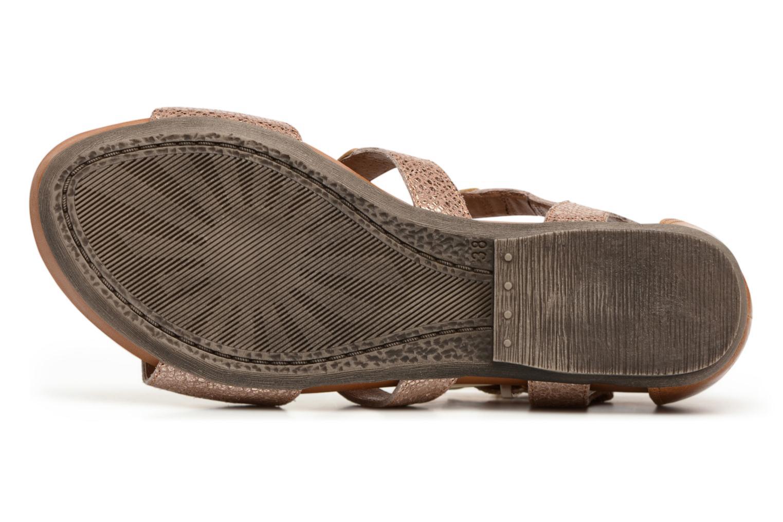Sandales et nu-pieds Karston Konic Marron vue haut