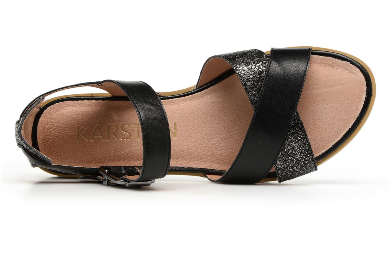 Sandales et nu-pieds Karston Kilian Noir vue gauche