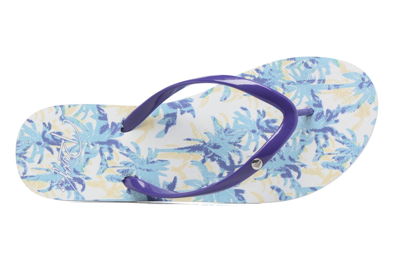 Chanclas Roxy Portofino Azul vista lateral izquierda