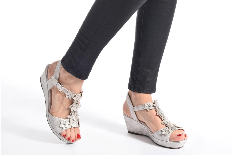 Sandales et nu-pieds Madison Esabela Argent vue bas / vue portée sac