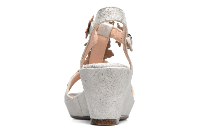 Sandales et nu-pieds Madison Esabela Argent vue droite