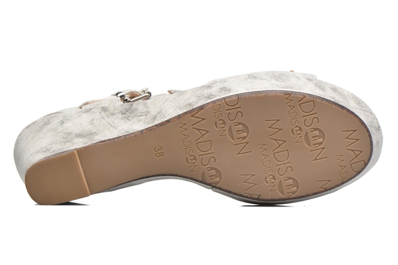 Sandales et nu-pieds Madison Esabela Argent vue haut