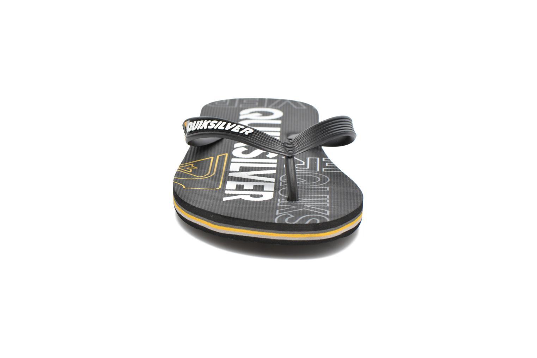 Tongs Quiksilver Molokai Nitro M Noir vue portées chaussures