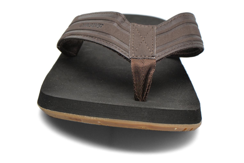 Tongs Quiksilver Monkey Wrench Marron vue portées chaussures