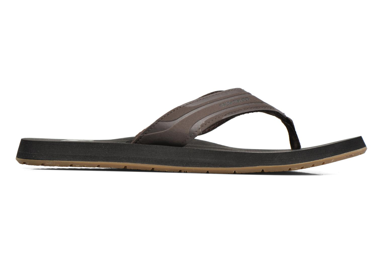 Flip flops Quiksilver Monkey Wrench Brown back view