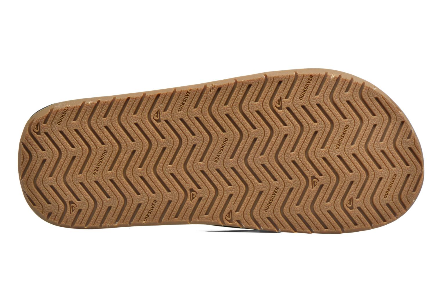 Flip flops Quiksilver Monkey Wrench Brown view from above