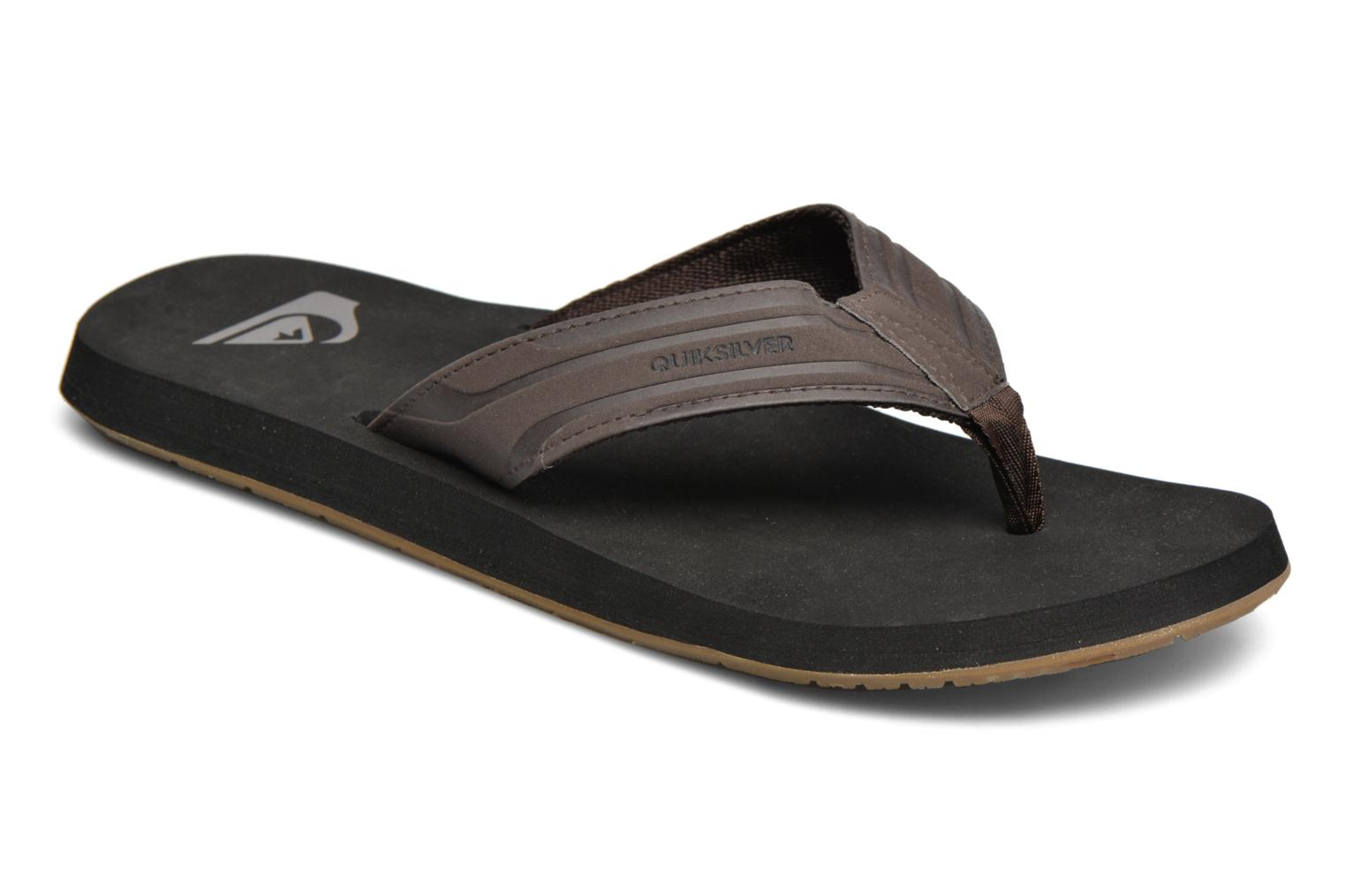 Flip flops Quiksilver Monkey Wrench Brown detailed view/ Pair view
