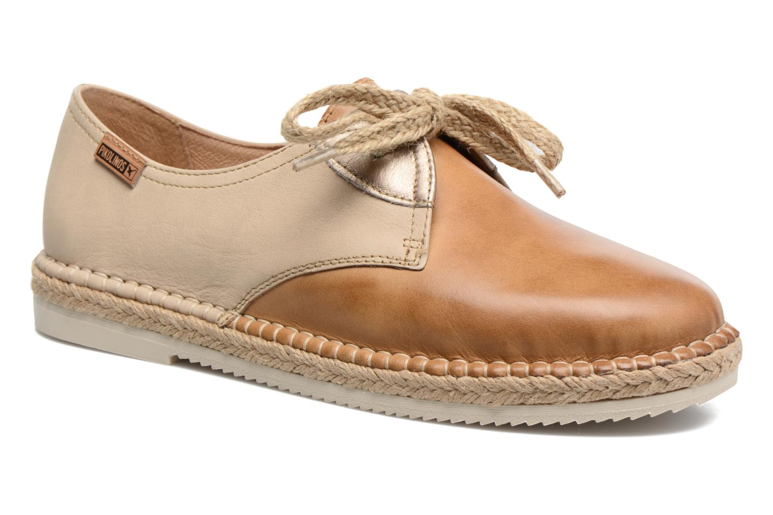 Lace-up shoes Pikolinos Cadamunt W3K-4604 Brown detailed view/ Pair view
