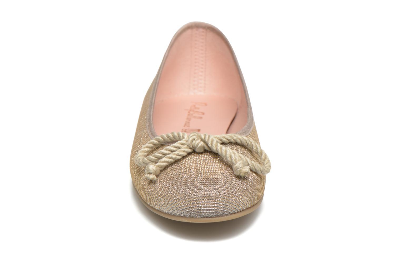 Ballerines Pretty Ballerinas Rosario Glitter Beige vue portées chaussures