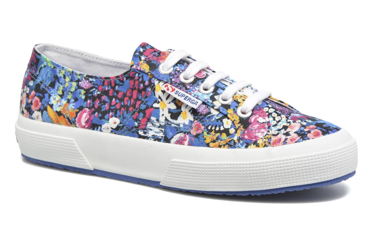 Marques Chaussure femme Superga femme 2750 Fabric Liberty W Meadow Blue-Fuxia