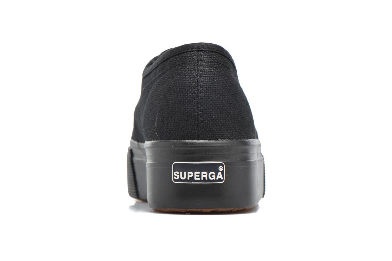 Baskets Superga 2790 Cot W Linea Noir vue droite