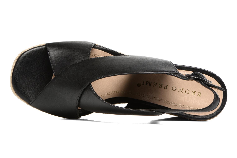 Sandales et nu-pieds Bruno Premi Valéo Noir vue gauche