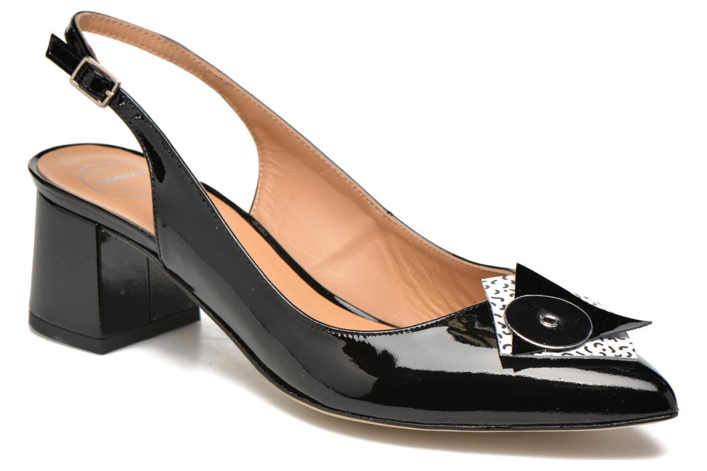 Zapatos de tacón Made by SARENZA Donut hut #8 Negro vista de detalle / par