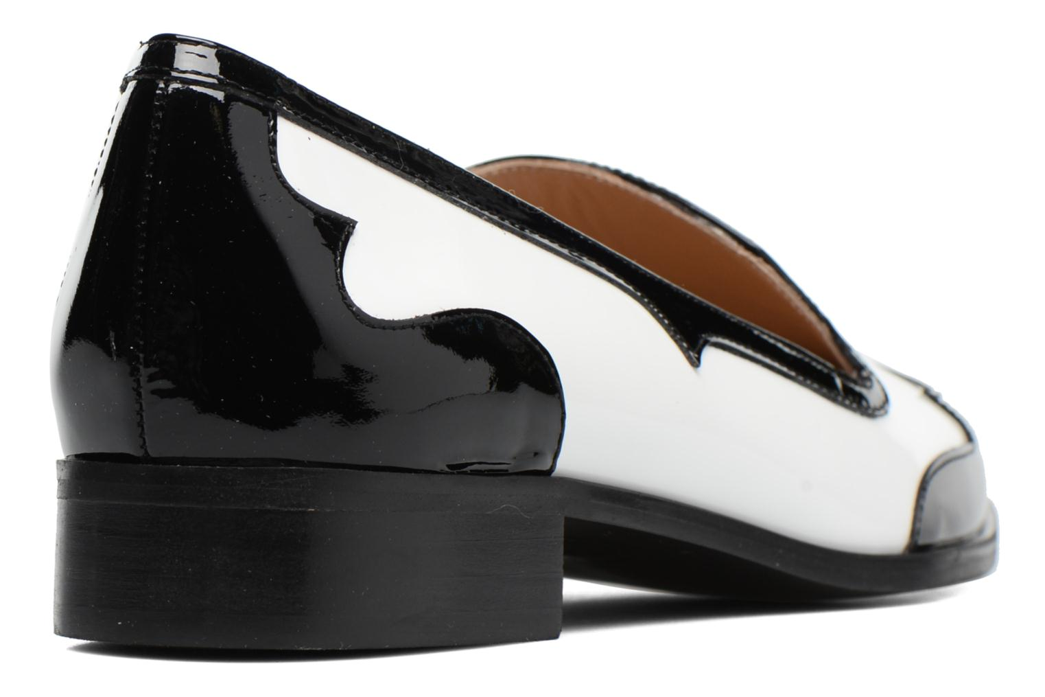 Loafers Made by SARENZA Vegas Lipstick #1 White front view