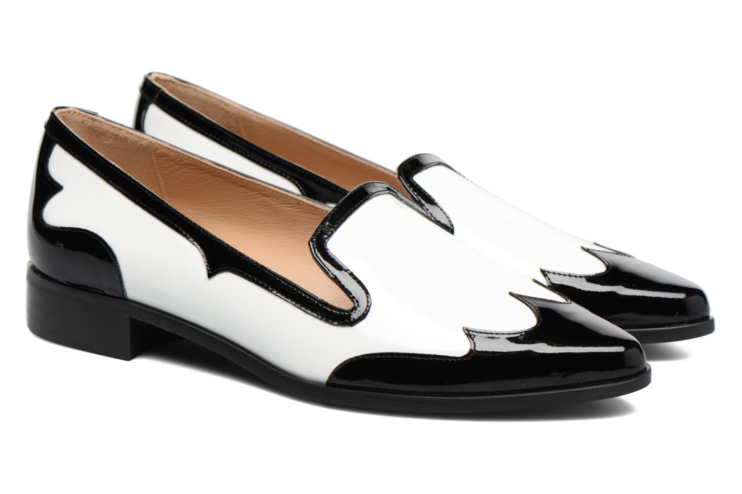 Loafers Made by SARENZA Vegas Lipstick #1 White back view