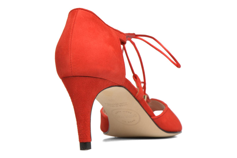 Sandalias Made by SARENZA Mexicoco #8 Rojo vista de frente