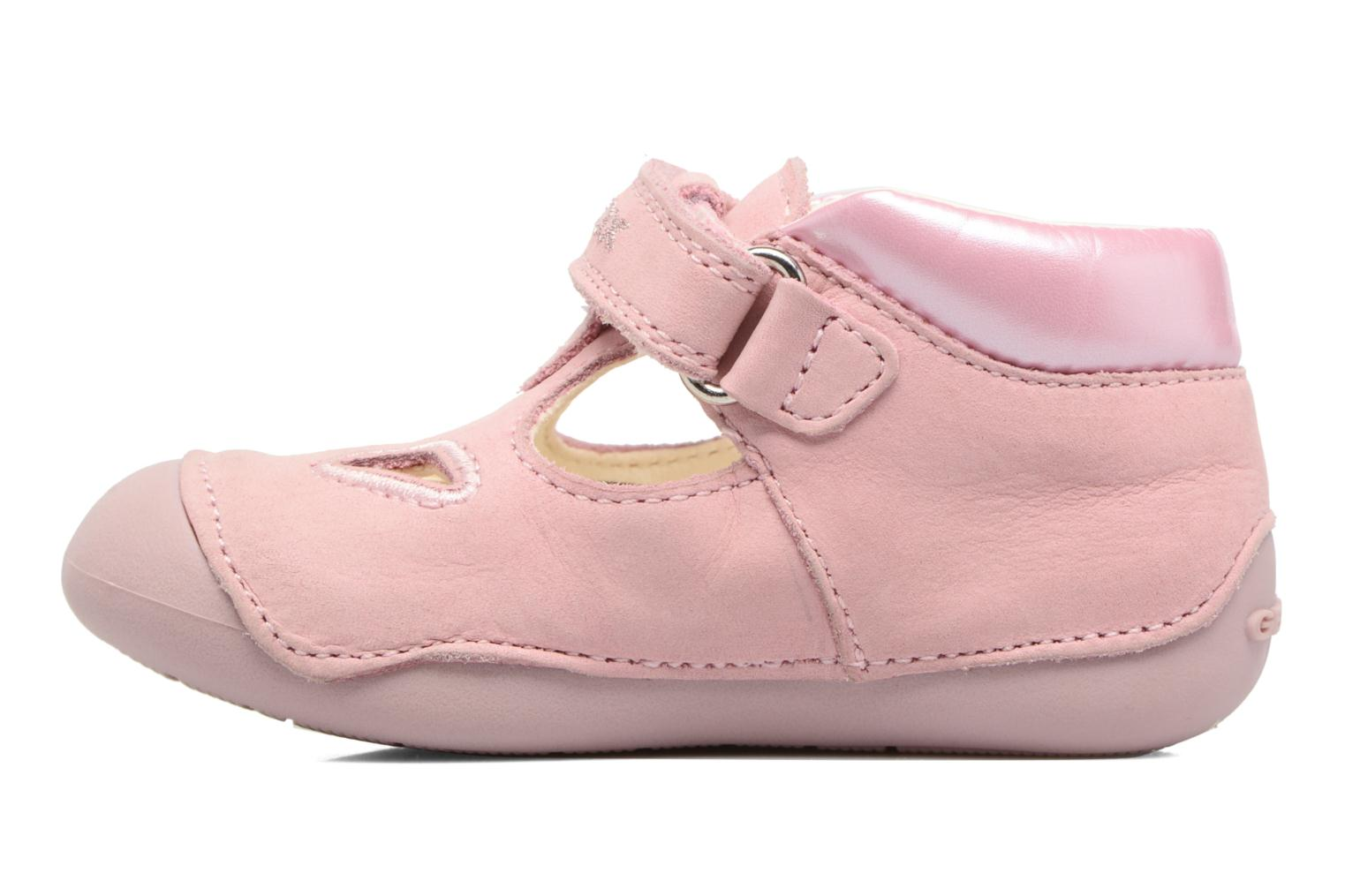 Velcro shoes Geox B Tutim G. A B6240A Pink front view