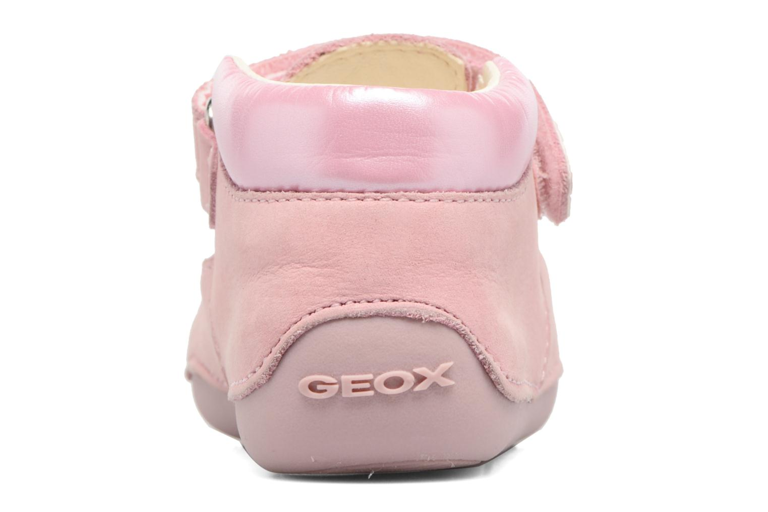 Velcro shoes Geox B Tutim G. A B6240A Pink view from the right