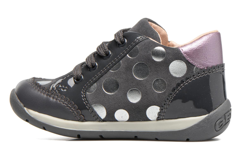 Chaussures à lacets Geox B Each G. C B720AC Gris vue face