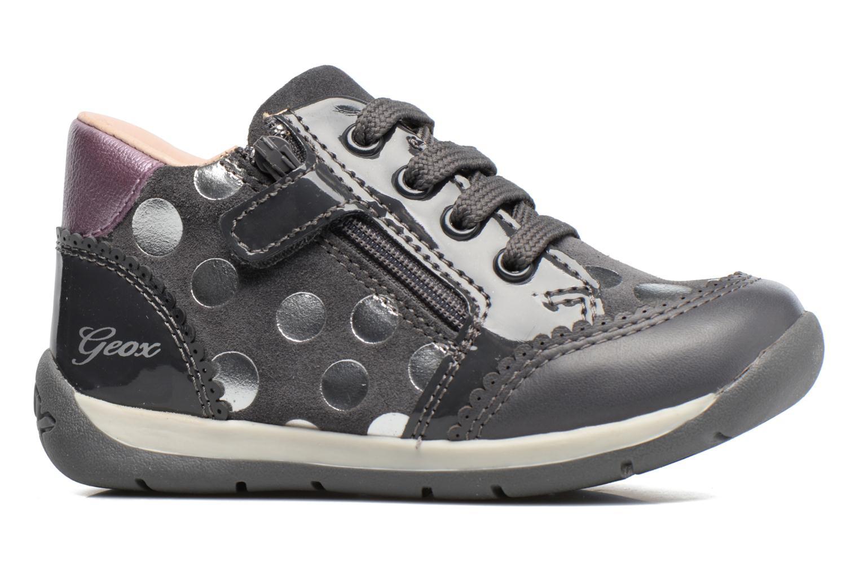 Chaussures à lacets Geox B Each G. C B720AC Gris vue derrière