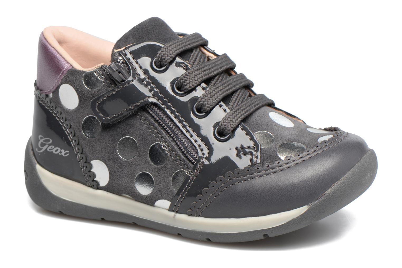 Chaussures à lacets Geox B Each G. C B720AC Gris vue détail/paire