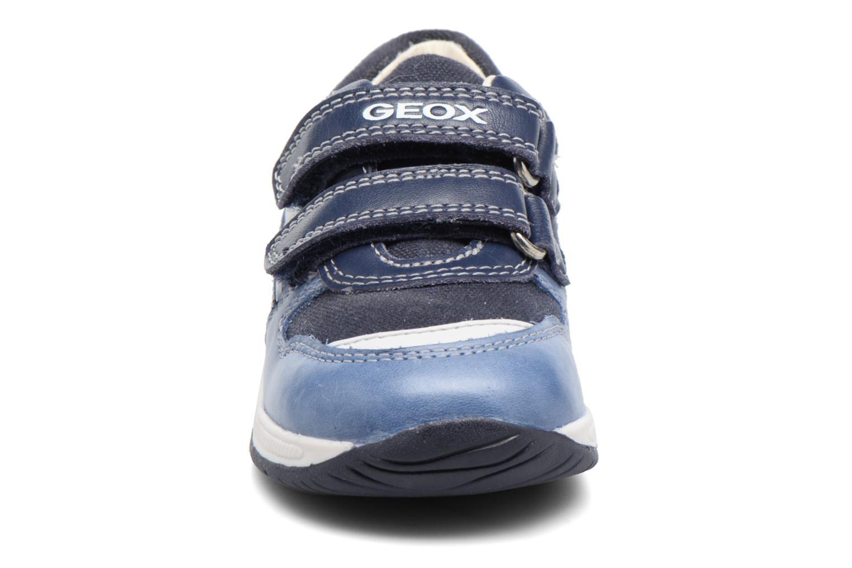 Baskets Geox B Rishon B. C B720RC Bleu vue portées chaussures