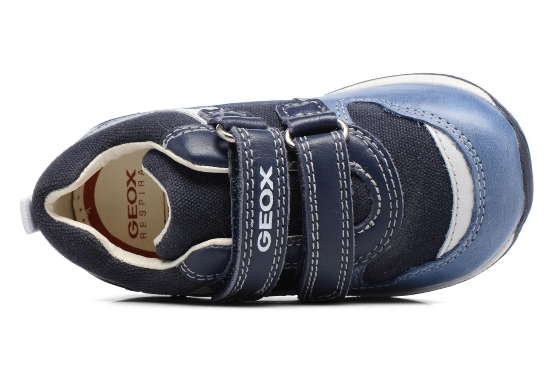 Baskets Geox B Rishon B. C B720RC Bleu vue gauche