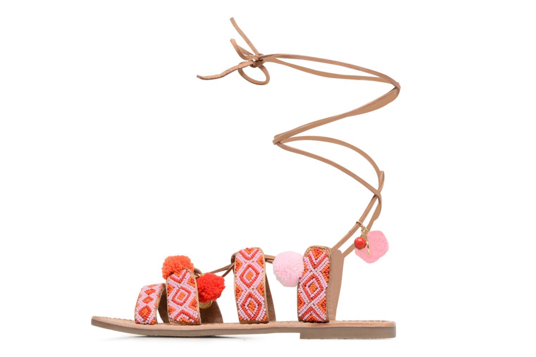 Sandals L'Atelier Tropézien Nina Pink front view