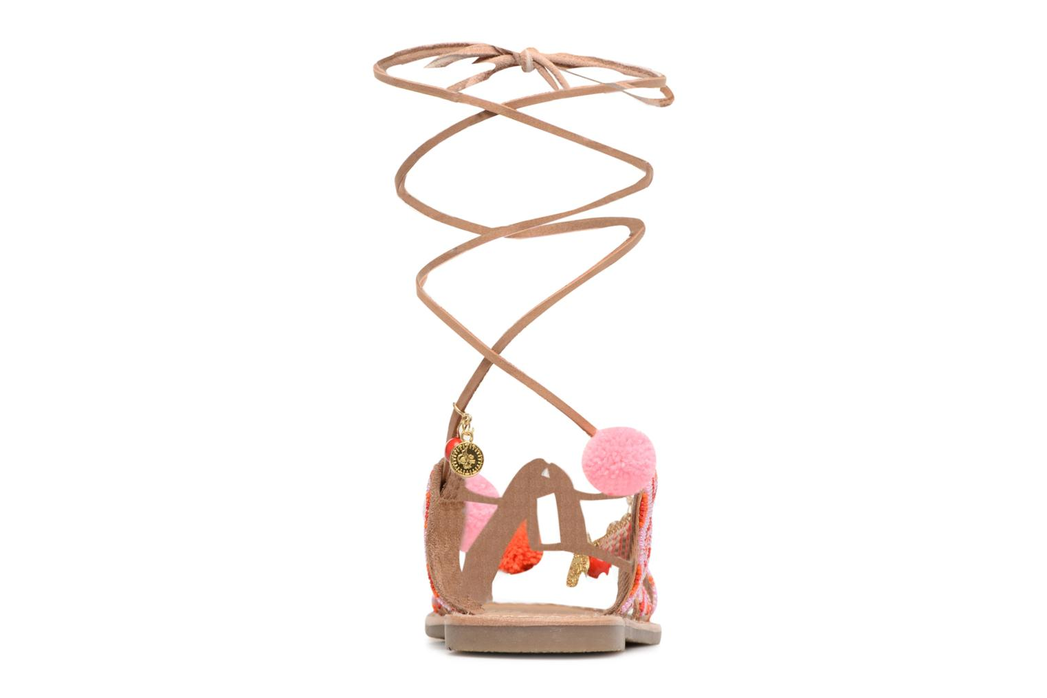 Sandals L'Atelier Tropézien Nina Pink view from the right