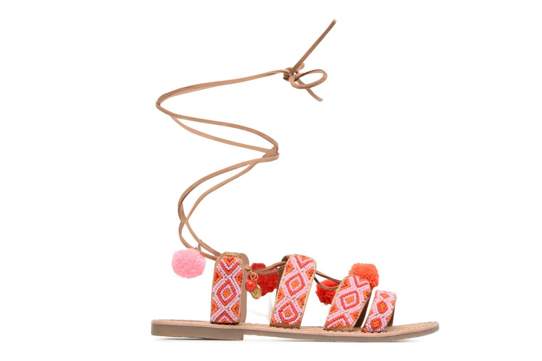Sandals L'Atelier Tropézien Nina Pink back view