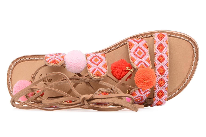 Sandales et nu-pieds L'Atelier Tropézien Nina Rose vue gauche
