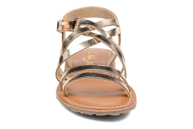 Sandales et nu-pieds L'Atelier Tropézien Justine Or et bronze vue portées chaussures