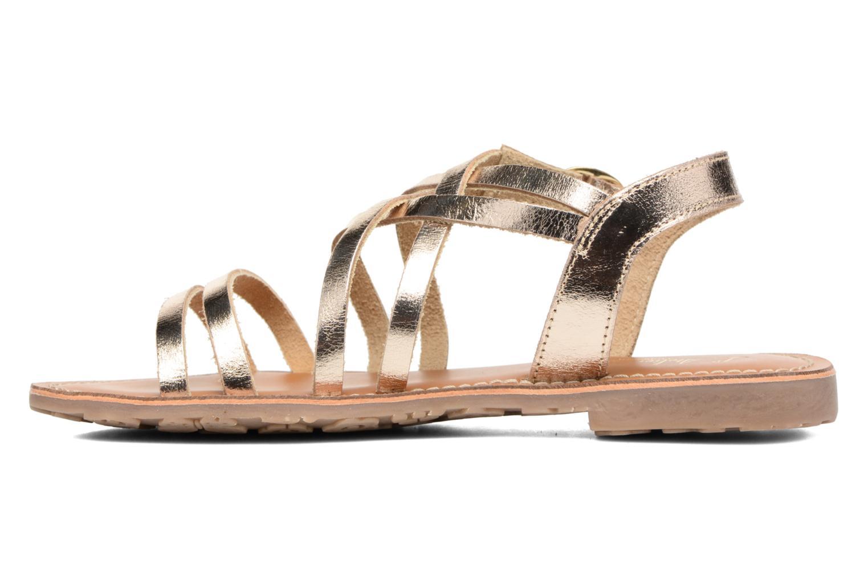 Sandales et nu-pieds L'Atelier Tropézien Justine Or et bronze vue face
