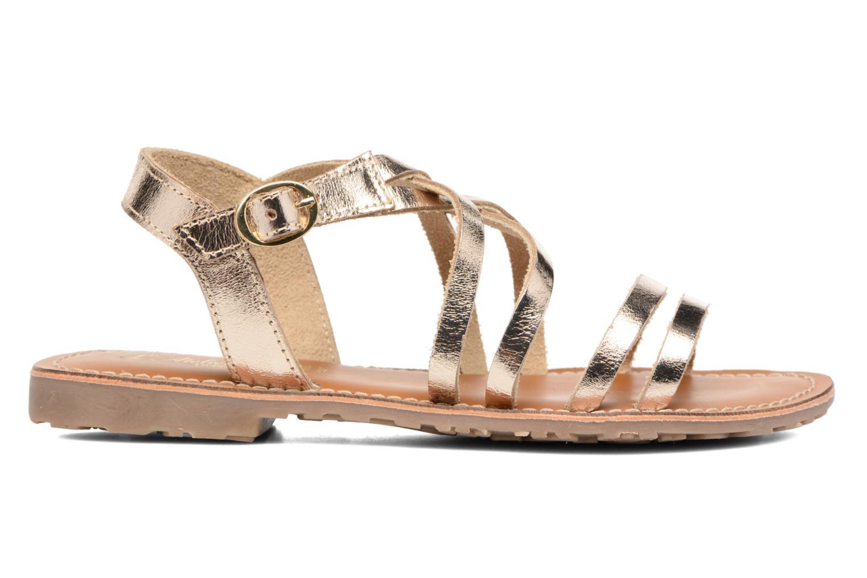 Sandales et nu-pieds L'Atelier Tropézien Justine Or et bronze vue derrière