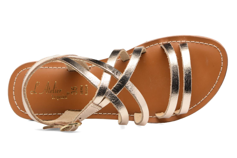 Sandales et nu-pieds L'Atelier Tropézien Justine Or et bronze vue gauche
