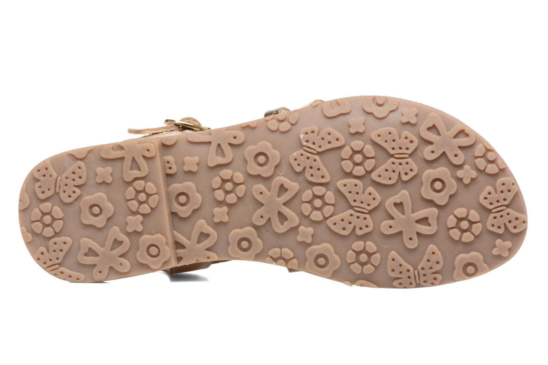 Sandales et nu-pieds L'Atelier Tropézien Justine Or et bronze vue haut
