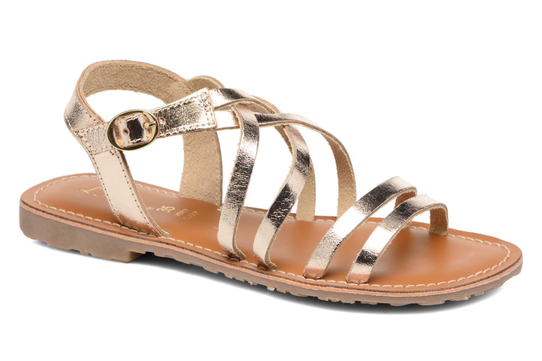 Sandales et nu-pieds L'Atelier Tropézien Justine Or et bronze vue détail/paire