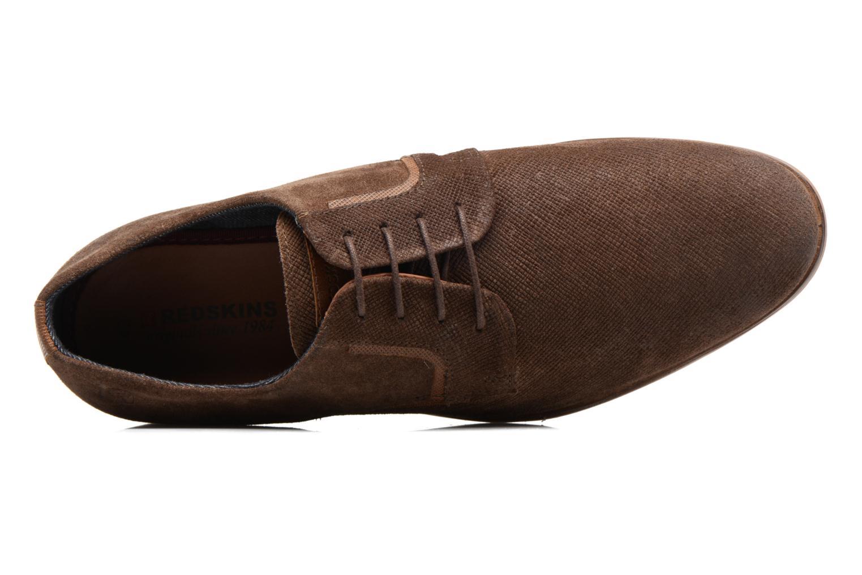 Zapatos con cordones Redskins Nesko Marrón vista lateral izquierda