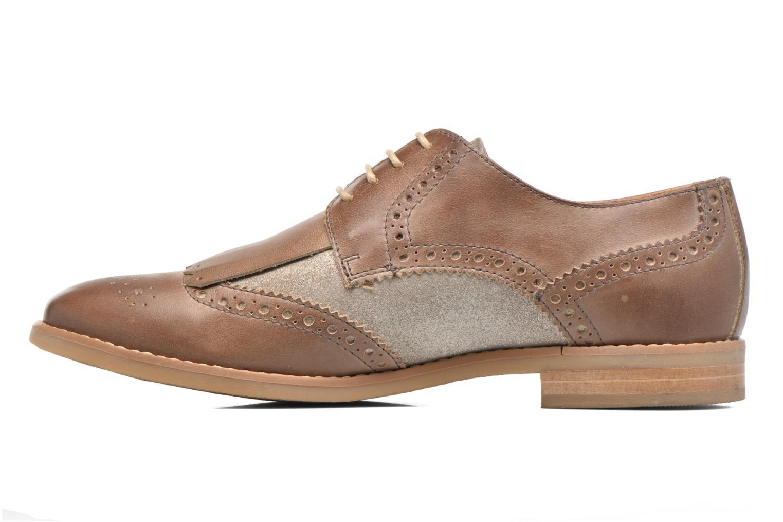 Chaussures à lacets Georgia Rose Nibule Marron vue face
