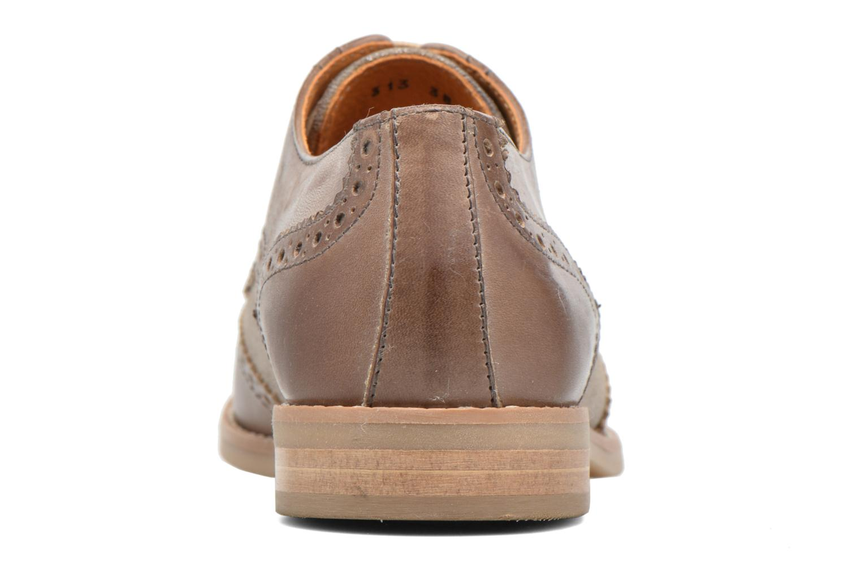 Chaussures à lacets Georgia Rose Nibule Marron vue droite