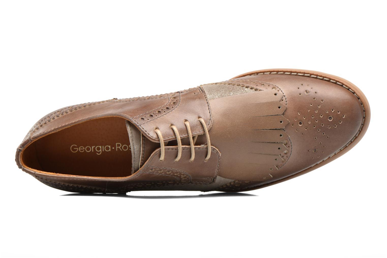 Chaussures à lacets Georgia Rose Nibule Marron vue gauche
