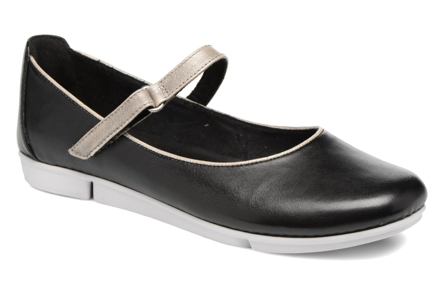 Ballet pumps Clarks Tri Axis Black detailed view/ Pair view