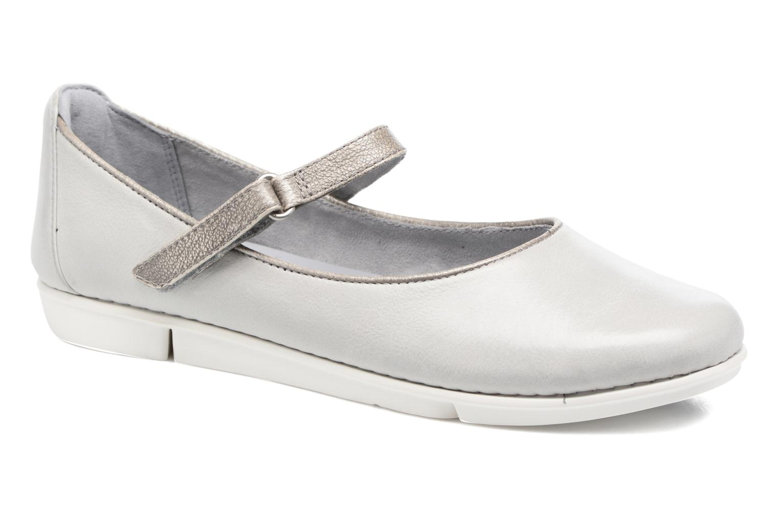Ballet pumps Clarks Tri Axis Grey detailed view/ Pair view