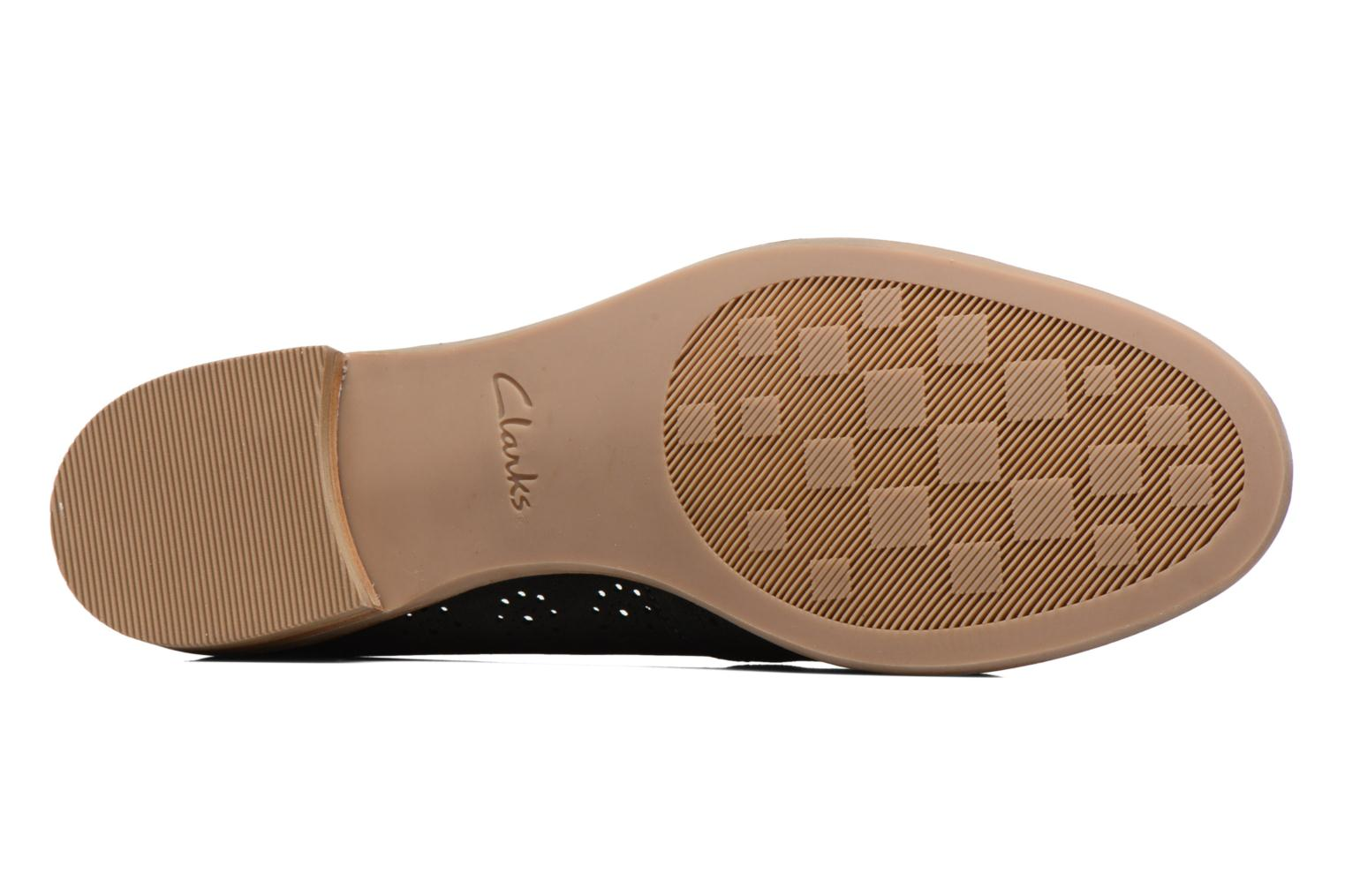 Ballet pumps Clarks Alania Rosa Black view from above