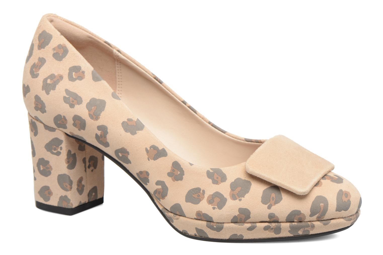 Høje hæle Clarks Kelda Gem Beige detaljeret billede af skoene