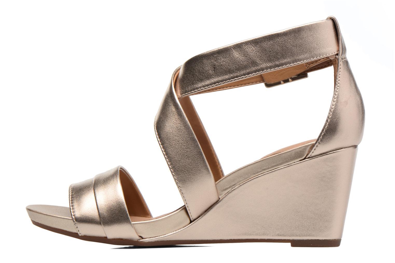Sandales et nu-pieds Clarks Acina Newport Or et bronze vue face